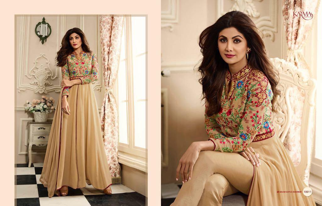 Lovely Karma Shilpa Shetty Wholesale Suit Catalog Collection Shilpa 10011