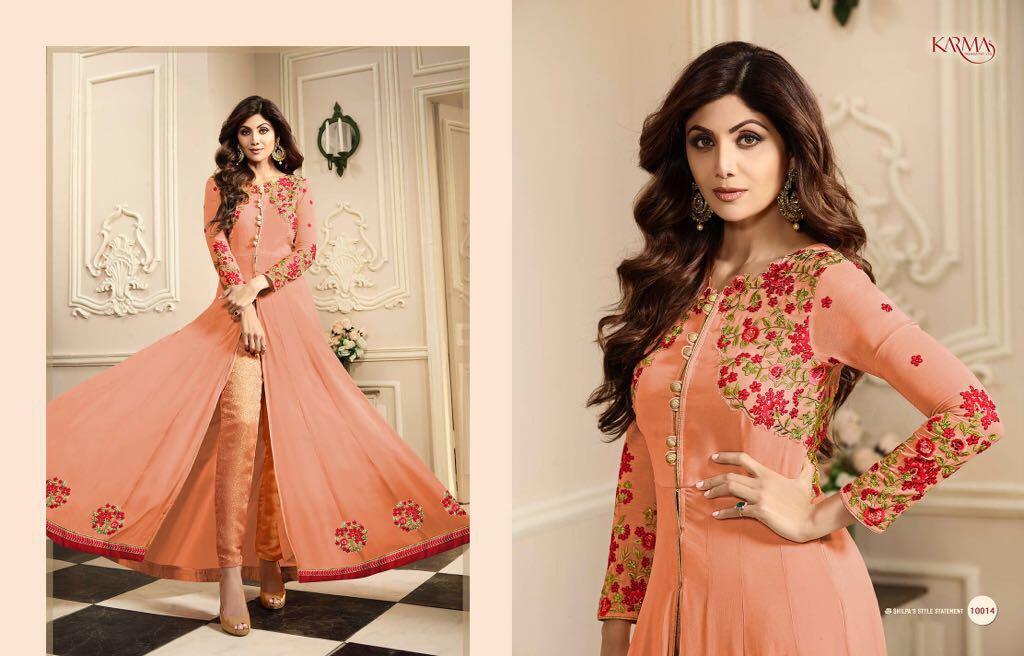 Karma Shilpa Shetty Wholesale Suit Catalog Collection Shilpa 10014 B