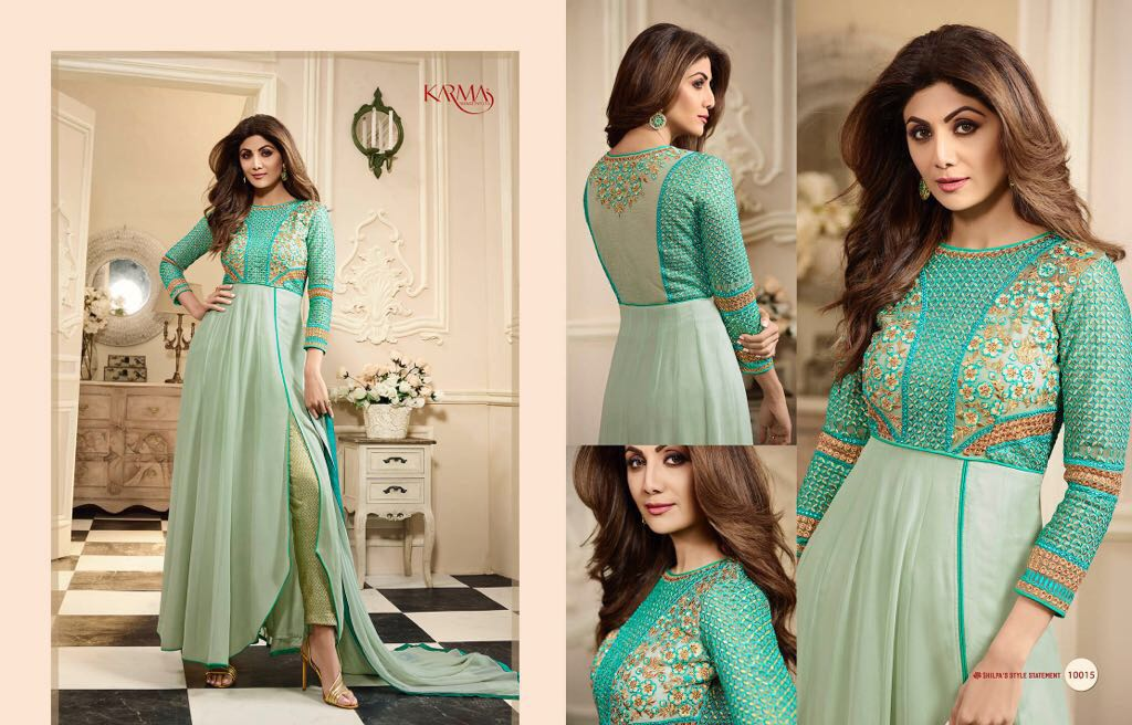 Karma Shilpa Shetty Wholesale Suit Catalog Collection Shilpa 10015