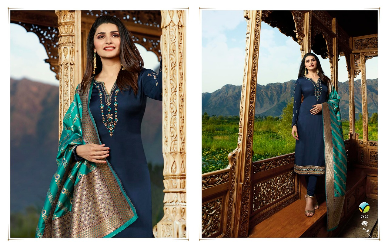eea939475f Vinay Fashion LLP Banaras Vol 2 Wholesale Suit Catalog CollectionKaseesh  7622